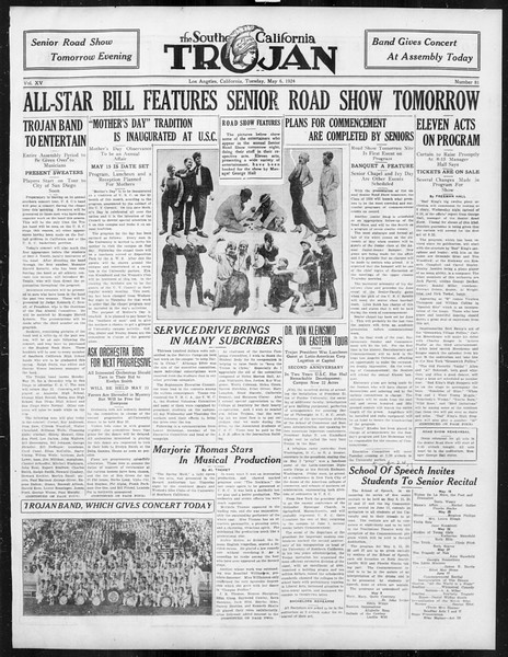 The Southern California Trojan, Vol. 15, No. 81, May 06, 1924