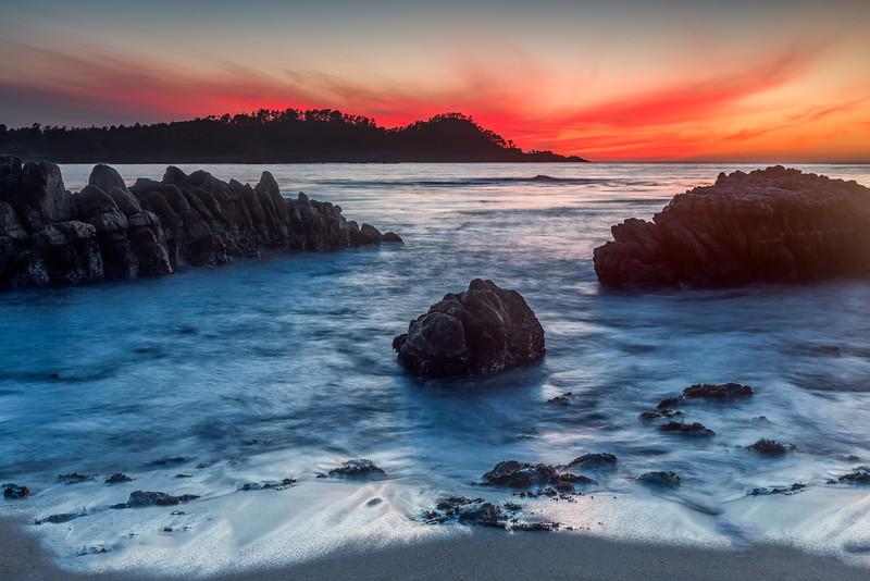 Point Lobos Fiery Light