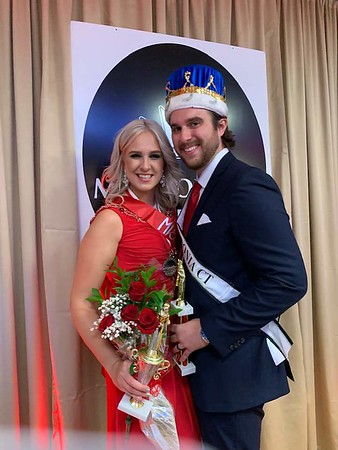 BEATA PALOSZ - Miss Congeniality and 3rd Vice Miss Polonia with Cody Kirschbaum - Mister Polonia CT 2020.
