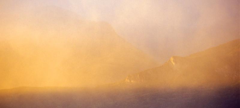 Waterton Lakes In Mist