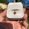 .84ct Fancy Deep Orange-Yellow Shield Shape Diamond Charm Ring 12