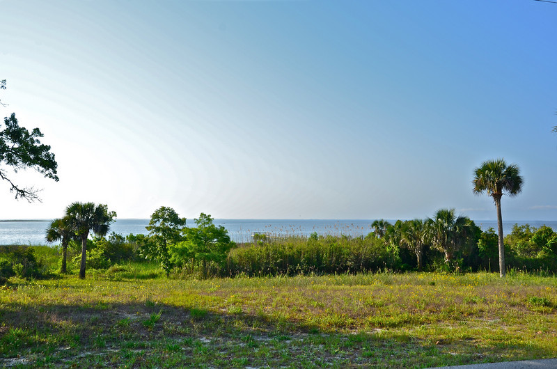 A view over the Apalachicola Bay with St. George Island in the distance.