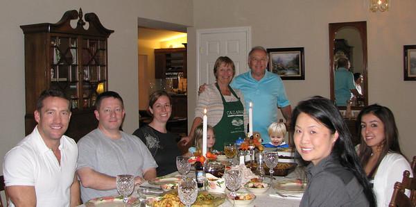 2012 Thanksgiving Sean Julie Kaitlyn Calvin Vivi Visit