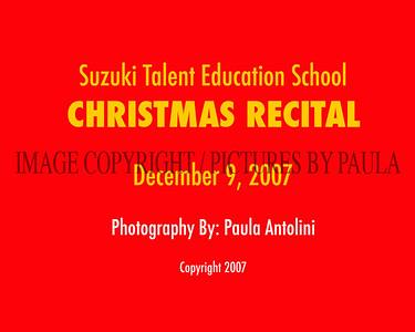 SUZUKI TALENT EDUCATION SCHOOL Christmas Recital, Newtown CT,  12-9-07