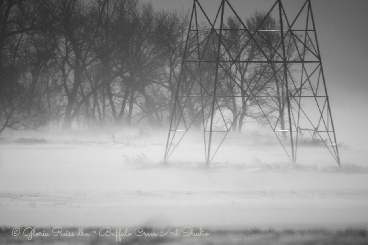 blowing snow during the ground blizzard
