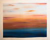 Venice Sunset 48x48 acrylic painting on loose canvas