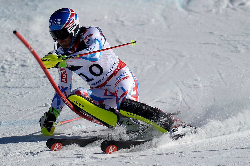 . BEAVER CREEK, CO - FEBRUARY 08: T. Mermillod Blondin of France competes during the men\'s alpine combined final. FIS Alpine World Ski Championships 2015 on Sunday, February 8, 2015. (Photo by AAron Ontiveroz/The Denver Post)