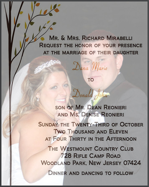 Dana & Donald's Wedding 10-23-11