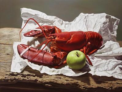 """""""Lobster"""" (oil on linen) by Xiaowei Liu"""