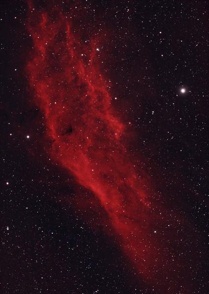 California Nebula in HaRGB - Reprocessed Using PixInsight