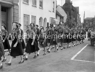 Girl Guides in Mayor's Sunday procession, May 31st 1953