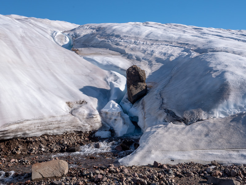 erractic being carried on a glacier
