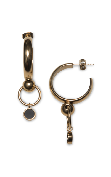 Satelite Golden Hoop Earrings