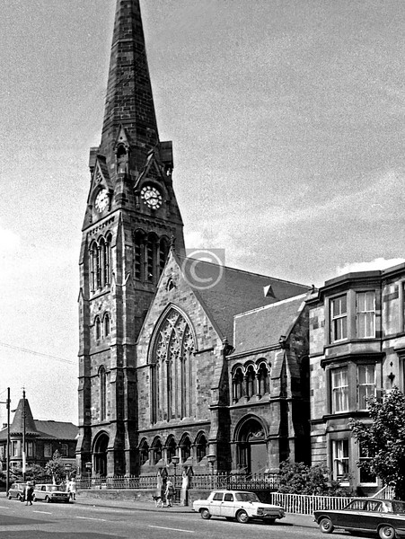 Albert Dr, Pollokshields Church.   June 1975