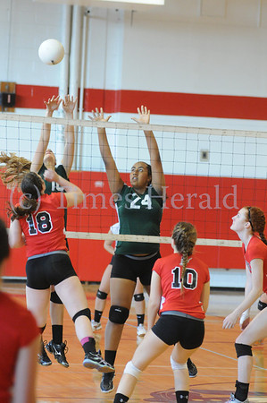 Archbishop Caroll's girls volleyball plays Methacton