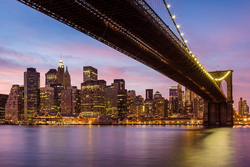 'Big City Nights' - Brooklyn Bridge, New York City