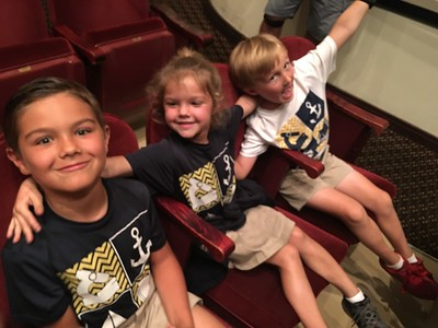 """Mahaffey Field trip with Second and Third grade to see """"Stuart Little""""."""