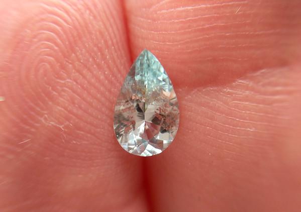 0.77 Montana unheated sapphire pear (S214)
