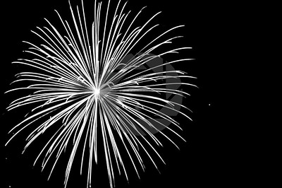 Canada Fireworks - Black and White Series
