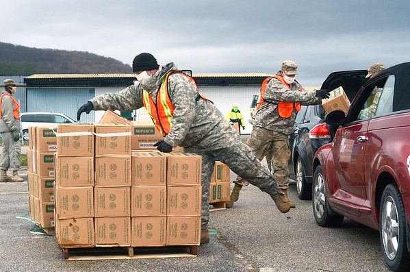 Vermont National Guard meal distribution - 043020