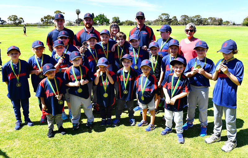 T-Ball and Coach-Pitch Wind Up Day Berri Team Photo