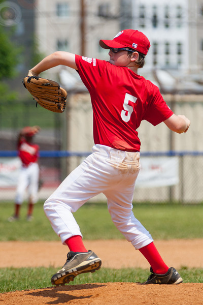 Christopher pitching in the bottom of the 5th inning. The bats of the Nationals were supported by a great defensive outing in a 11-4 win over the Twins. They are now 7-3 for the season. 2012 Arlington Little League Baseball, Majors Division. Nationals vs Twins (13 May 2012) (Image taken by Patrick R. Kane on 13 May 2012 with Canon EOS-1D Mark III at ISO 400, f4.0, 1/4000 sec and 210mm)