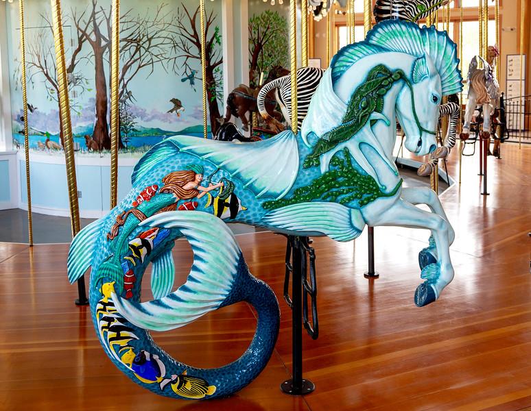 Carol's mount is a mermaid horse ...