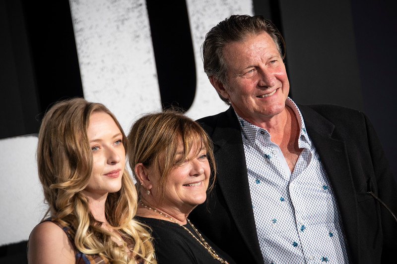 "HOLLYWOOD, CALIFORNIA - SEPTEMBER 28: Harper Cullen, guest and Brett Cullen attend the premiere of Warner Bros Pictures ""Joker"" on Saturday, September 28, 2019 in Hollywood, California. (Photo by Tom Sorensen/Moovieboy Pictures)"