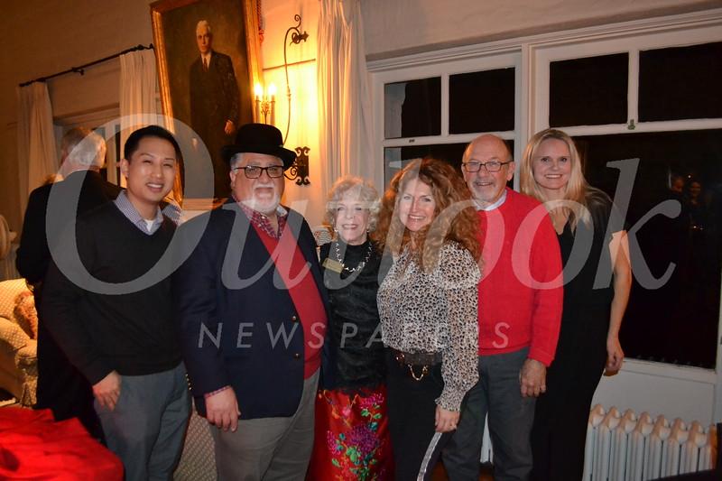 David Kim, state Sen. Anthony Portantino, Mary Gant, Analily Park, Carl Christensen and Heidi Hamilton