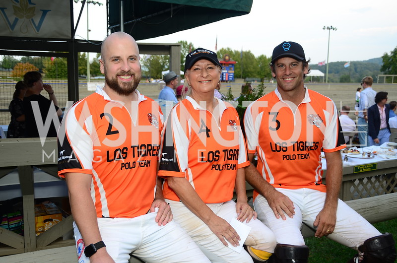 Michael Grams, Debbie Nash, Tano Vial,  NVTRP Ride to Thrive Polo Classic, Great Meadow, Sep 28, 2019, photo by Nancy Milburn Kleck