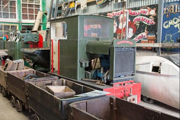 Hunslet WN 2659 at Cavan & Leitrim Rly, Dromod, Co, Leitrim  29 September 2014
