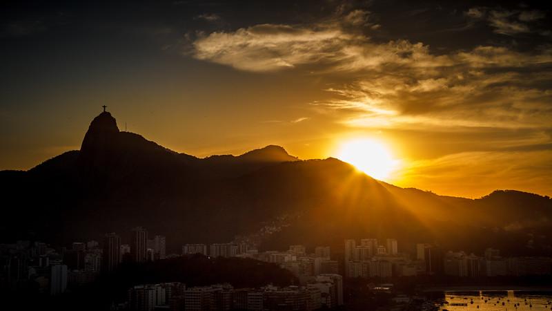 Astonishing sunset shot from Sugar Loaf.