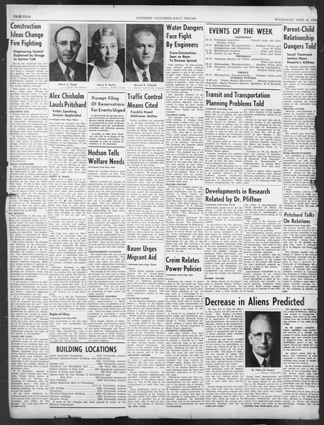 Southern California Daily Trojan: U.S.C. Institute of Government, Vol. 7, No. 2, June 12, 1940