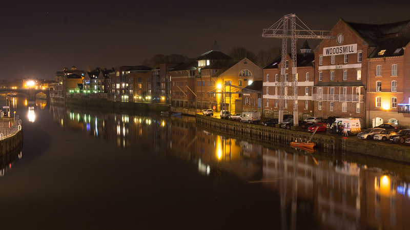 River Ouse quaysides in York