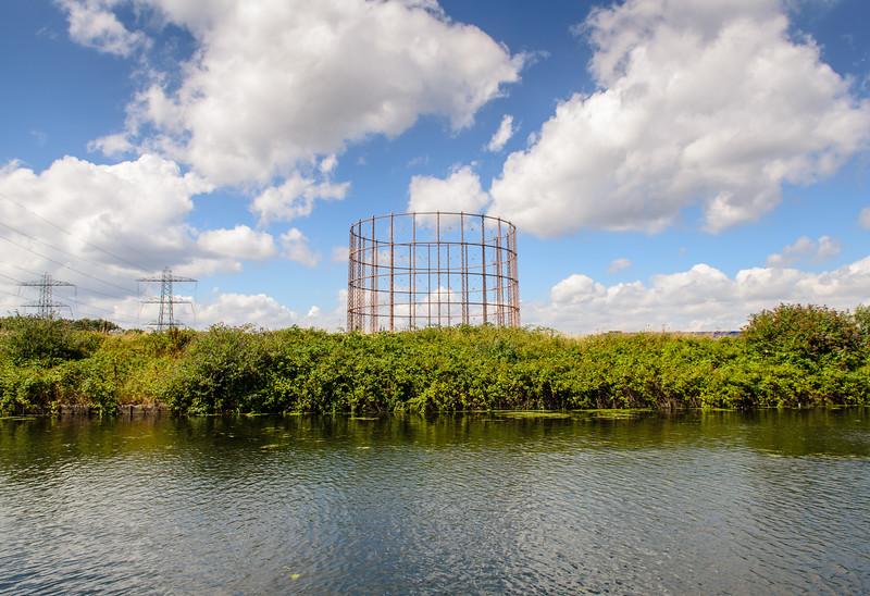 Gasometer on the River Lea