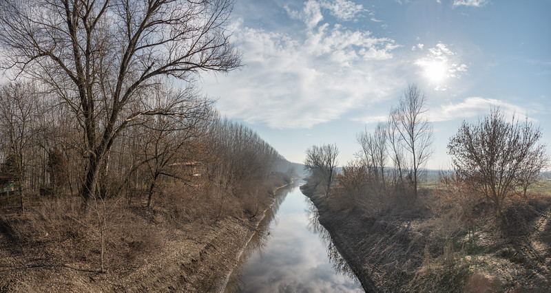Torrente Crostolo - Guastalla, Reggio Emilia, Italy - January 13, 2019
