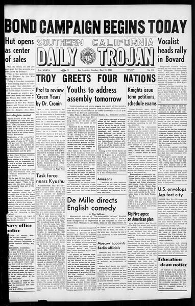 Daily Trojan, Vol. 36, No. 126, May 21, 1945