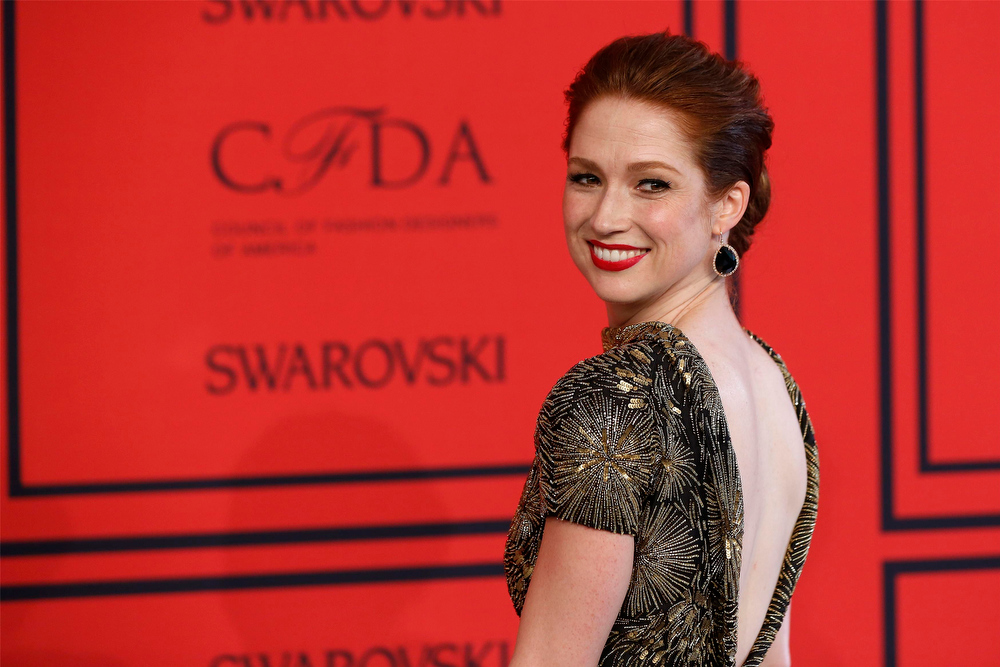 . Actress Ellie Kemper arrives at the 2013 Council of Fashion Designers of America (CFDA) awards in New York June 3, 2013.  REUTERS/Lucas Jackson