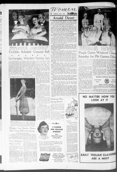 Daily Trojan, Vol. 47, No. 106, April 05, 1956