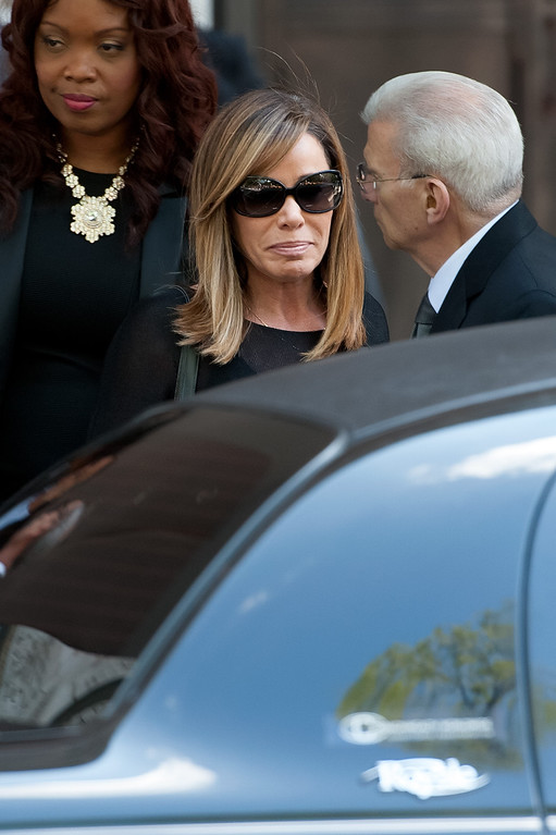 . Melissa Rivers attends the Joan Rivers memorial service at Temple Emanu-El on September 7, 2014 in New York City. Rivers passed away on September 4, 2014 after suffering respiratory and cardiac arrest during vocal cord surgery on August 28, 2014.  (Photo by D Dipasupil/Getty Images)
