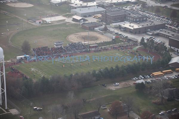 Aerial shots of semi final games