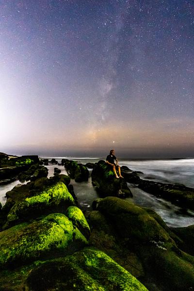 Milky Way Self-Portrait At Windansea Beach. 3/4