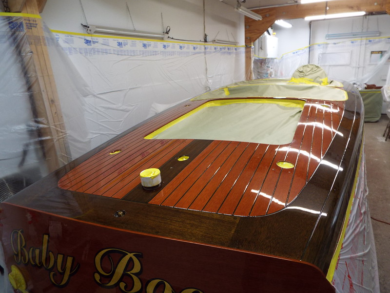 Rear deck completed.