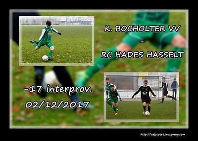 K. Bocholter VV - RC Hades Hasselt  (interprov -17)  02/12/2017