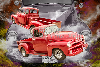 1954 Chevrolet Pickup Vintage Antique Classic Car Fine Art Prints Photographs in Both Color and Black and White Sepia