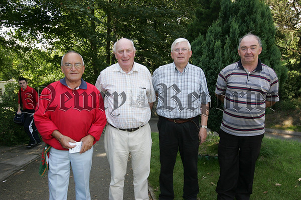 Pictured at Cloughoge Pitch and Putt Seniors Day are, Finton McGreevy, Brian Grant, Brendan Cavanagh and Edward Flynn.