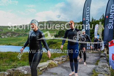 The Snowman Triathlon - Swimmers on Bridge