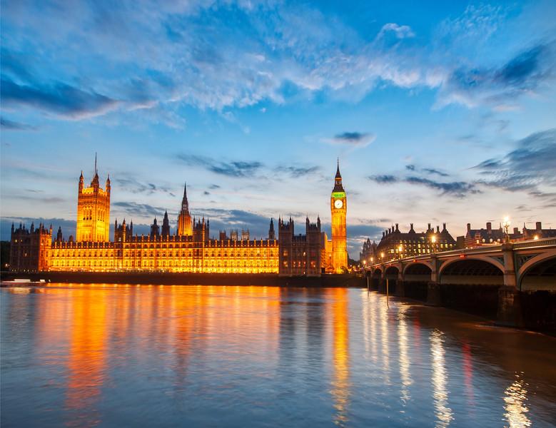London just before Dusk