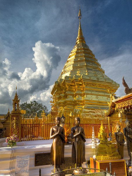 Main Chedi at Wat Doi Suthep in Chiangmai