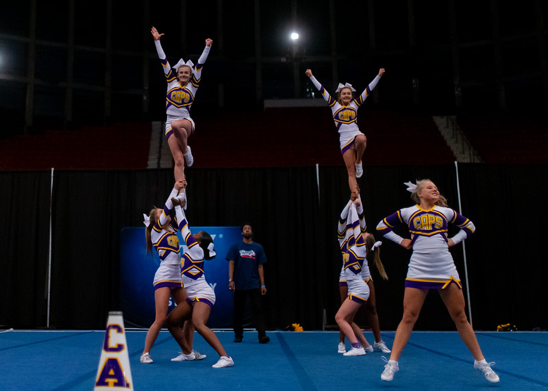 Broughton cheerleading Pre-States. November 16, 2019. D4S_1691